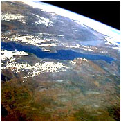 View of Lake Tanganyka from space